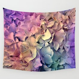 Soft Multi Color Hydrangea Wall Tapestry