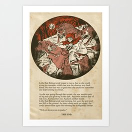 Little Red Riding Hood - Untold Ending Art Print