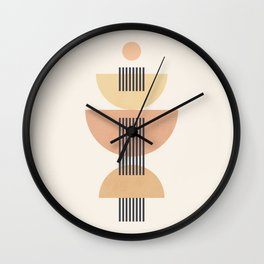 Abstraction_SUN_BEAM_SHAPE_LINE_POP_ART_0111M Wall Clock
