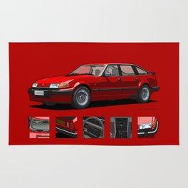 Rover Vitesse 1986 Targa Red Rug