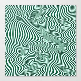 DISTORTION GREEN Canvas Print