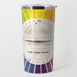 Vintage Color Wheel - Art Teaching Tool - Rainbow Mood Chart Travel Mug