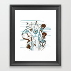 Five Framed Art Print