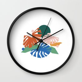 botanical dreamscape Wall Clock