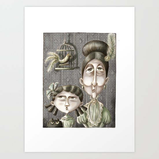 Aunt Geraldine and Virginia Art Print