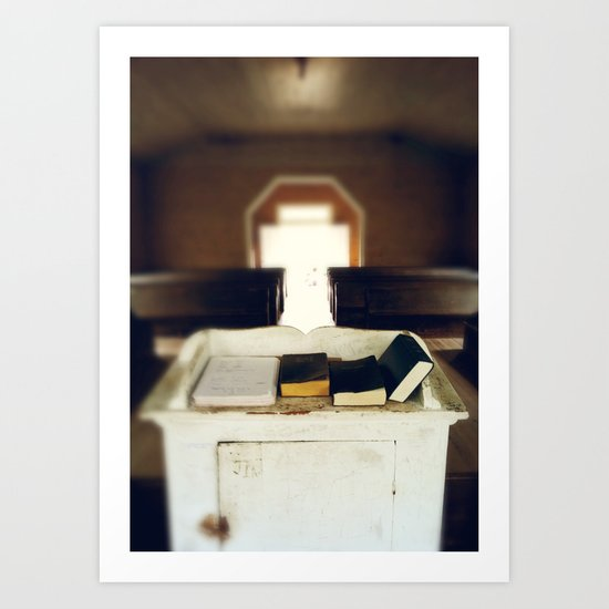 Let The Light Shine In -  Country Church Art Print
