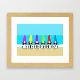Shih Tzu Surf Jersey Framed Art Print