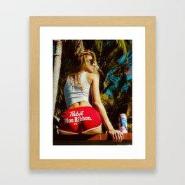 WHITE HOT AMERICA Framed Art Print
