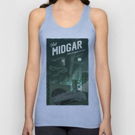 Midgar (Final Fantasy 7) Travel Poster Unisex Tank Top
