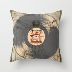 VINCI RECORD Throw Pillow