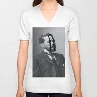 meditation V-neck T-shirts featuring Meditation by Mrs Araneae