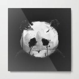 CROUCHING PANDA HIDDEN SOMEWHERE - painting Metal Print