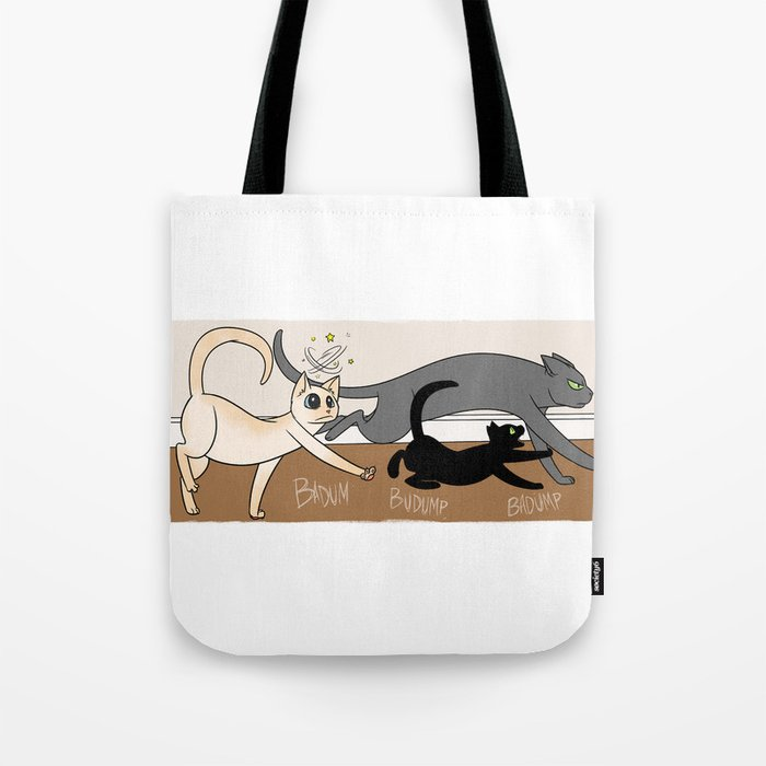 Furred Frenzy Cat Rampage Tote Bag