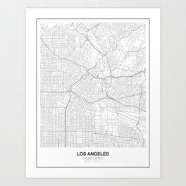 Los Angeles, United States Minimalist Map Art Print