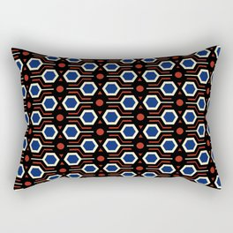 Vintage wallpaper from seventies - Electro version. Rectangular Pillow