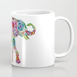 Flowery Elephant Coffee Mug