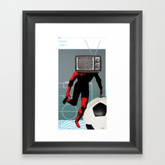 TV Football Run Framed Art Print