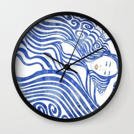 Water Nymph XXVII Wall Clock