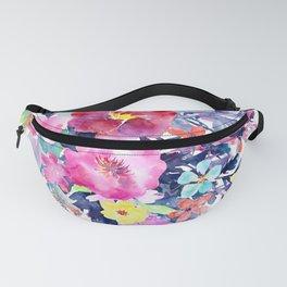 Flower Watercolor Fanny Pack