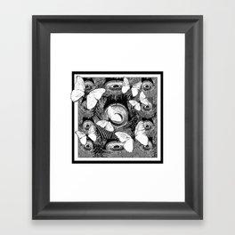 Black & White Butterflies Art Framed Art Print