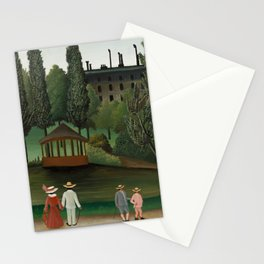 View of Montsouris Park, the Kiosk - Henri Rousseau Stationery Cards