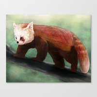red panda Canvas Prints featuring Red Panda by Ben Geiger