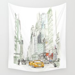 New York City Taxi Wall Tapestry