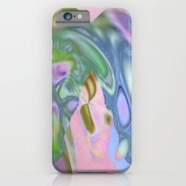 Rosey Blue Cotton Candy Too iPhone Case