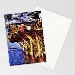 Offshore Oil Rig Stationery Cards