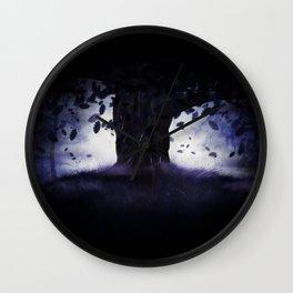 Misty oak tree Wall Clock