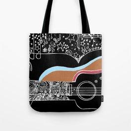 Guitar & stars Tote Bag