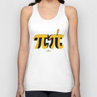 pi Tank Tops featuring PI by bisualhart