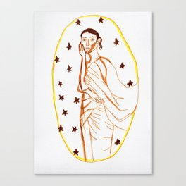 Starry Lady Canvas Print