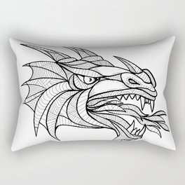 Dragon Head Zentagle Rectangular Pillow