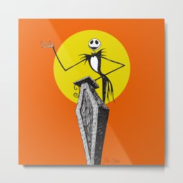 Pumpkin King Metal Print