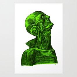 Sacred Man-Neon Green Art Print