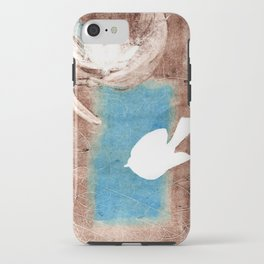 Flying Bird Monotype/Printmaking iPhone Case
