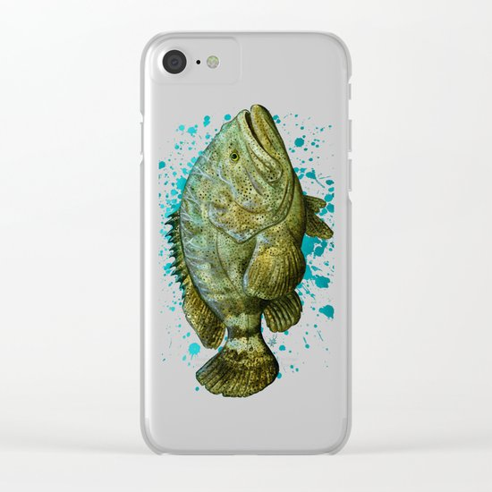 """""""Goliath Grouper"""" by Amber Marine ~ Watercolor Painting, (c) 2016 Clear iPhone Case"""