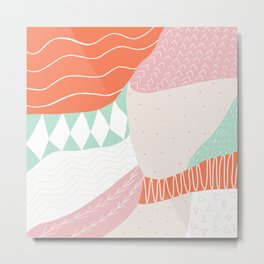 lena, patchwork quilt Metal Print