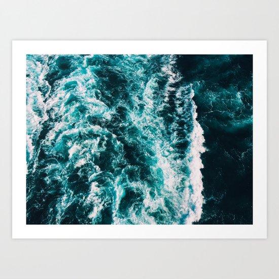 Deep Blue Waters Art Print