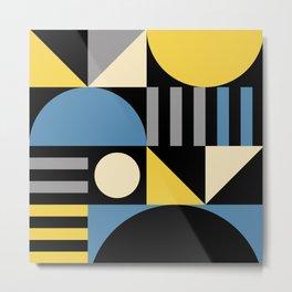 Mid Century Modern Geometric Abstract 930 Metal Print