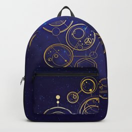 Gallifrey Gold Space Geometry Backpack