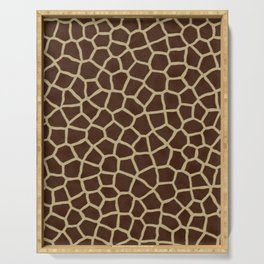 Giraffe Print Pattern Serving Tray