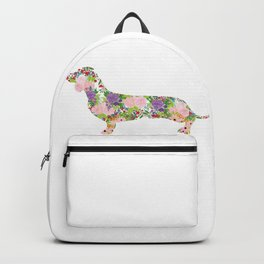 Floral Dachshund Art Backpack