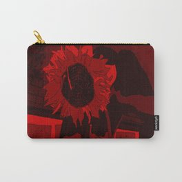 Thee Sunflower in Red by Mgyver Carry-All Pouch