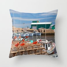 Seacow Pond Harbour Throw Pillow