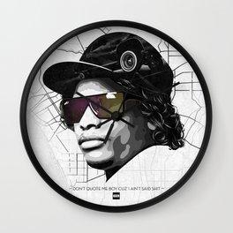 Eazy Muthafuckin E Wall Clock