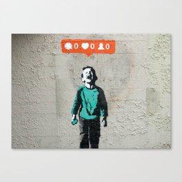Banksy, social life, likes Canvas Print