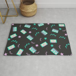 Retro radio pattern Rug