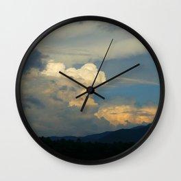 LH Mt. Clouds Wall Clock